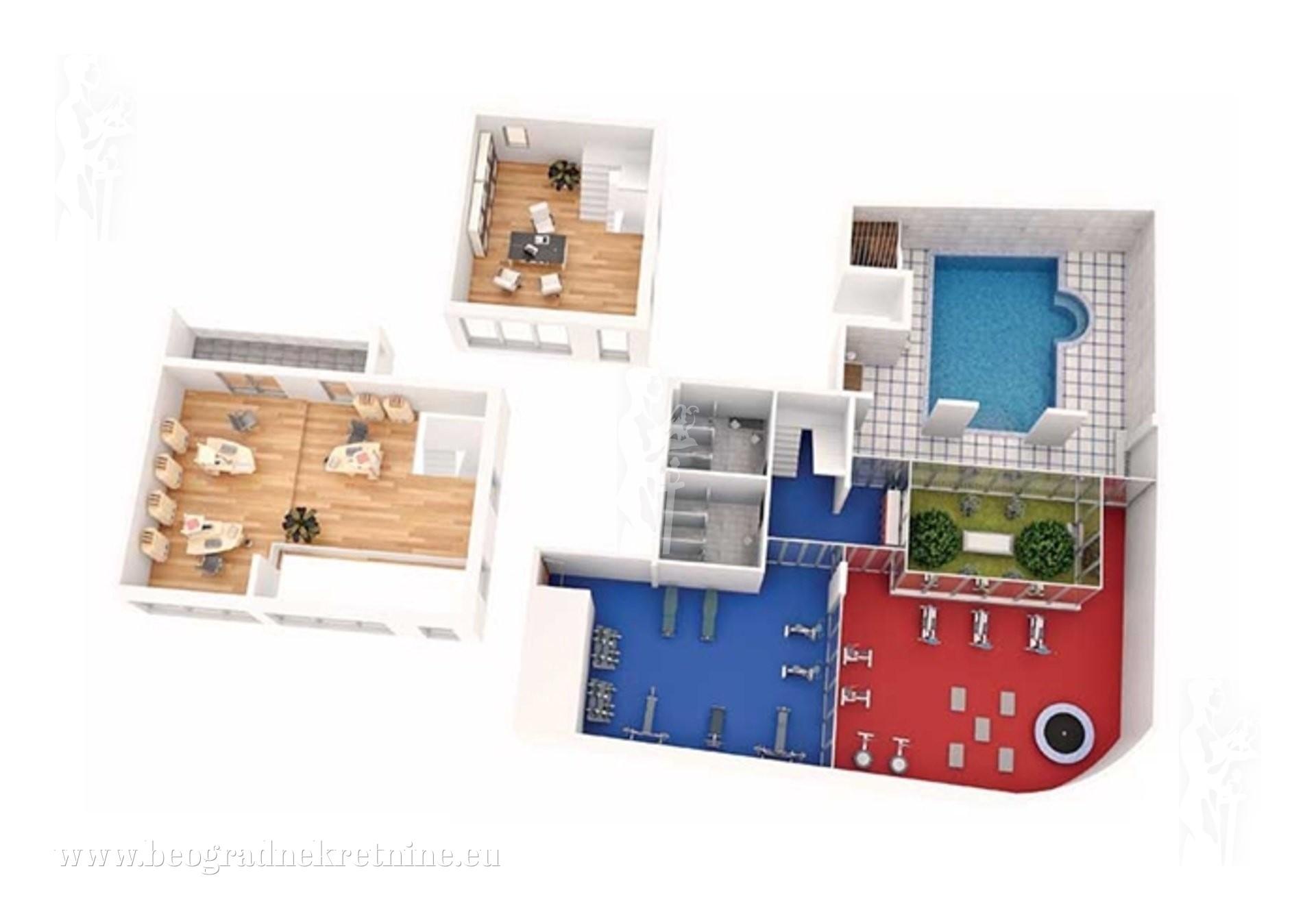 Lux PP za Spa ili klub sa bazenom 315m2 2 garaže