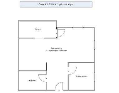 Apartment 1.5 room, Belgrade, Zemun, Altina (Ugrinovacki put 19deo)